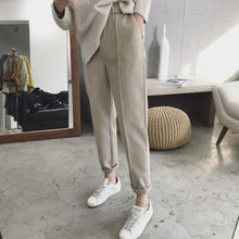 Зимние плотные женские теплые брюки карандаш шерстяные осенние