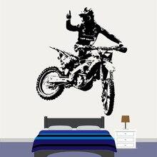 Wall Decal Motorcross Dirt Bike Sticker Bedroom Sport Motorcycle Personalised Boys Teenager Room Decoration E108