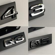 S3 S4 S5 S6 S7 S8 RS3 RS4 RS5 RS6 RS7 RS8 RSQ3 RSQ5 RSQ7 Suporte Logo Grille Emblema Estilo Do Carro para Audi TTRS Crachá Do Favo de mel