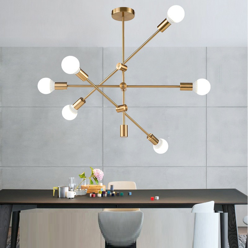 Modern Led Chandelier Black Gold Chandeliers Ceiling For Living Dining Room BedRoom Kitchen Lighting Fixture Restaurant Lamp
