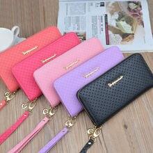 Новая ручная сумка Женский кошелек с длинной застежкой молнией