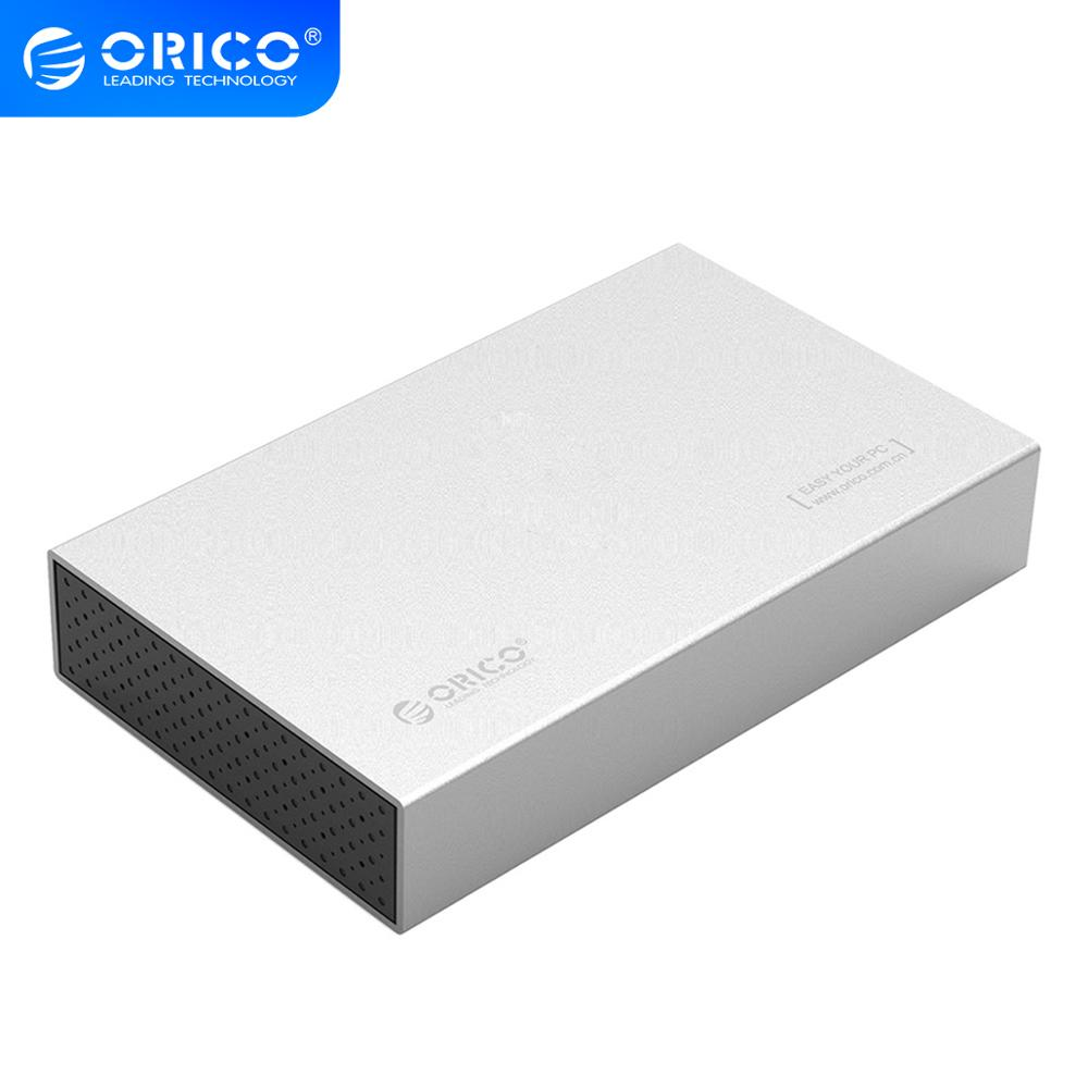 ORICO HDD Case Type C Aluminum SATA To USB C 3.5 Inch SSD / Sata HDD Enclosure Storage USB3.1 SATA 3 With 12V Power Adapter