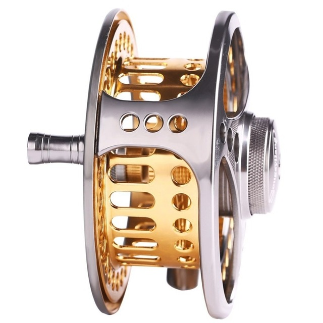 Sougayilang Large Arbor Fly Fishing Reel 2+1 BB High Die Casting Aluminium Alloy Spool Fly Reels Fishing Tackle 3