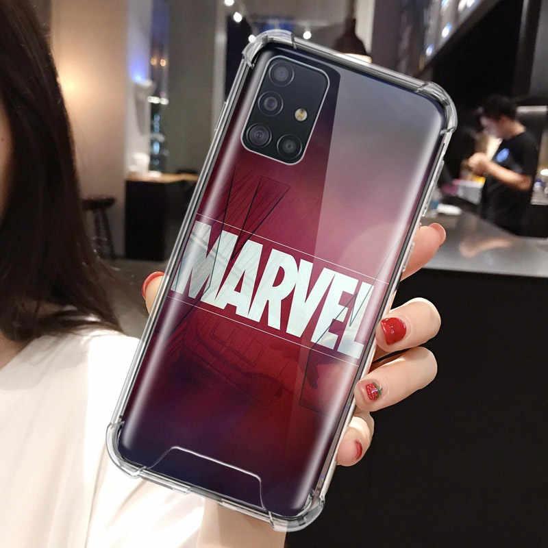 Nóng Marvel Avengers Comie Ốp Lưng Dành Cho Samsung Galaxy Samsung Galaxy A71 A51 M31 A41 A31 A21 A11 A01 M51 M21 M11 Túi Khí chống Nhà Ở Vỏ Điện Thoại