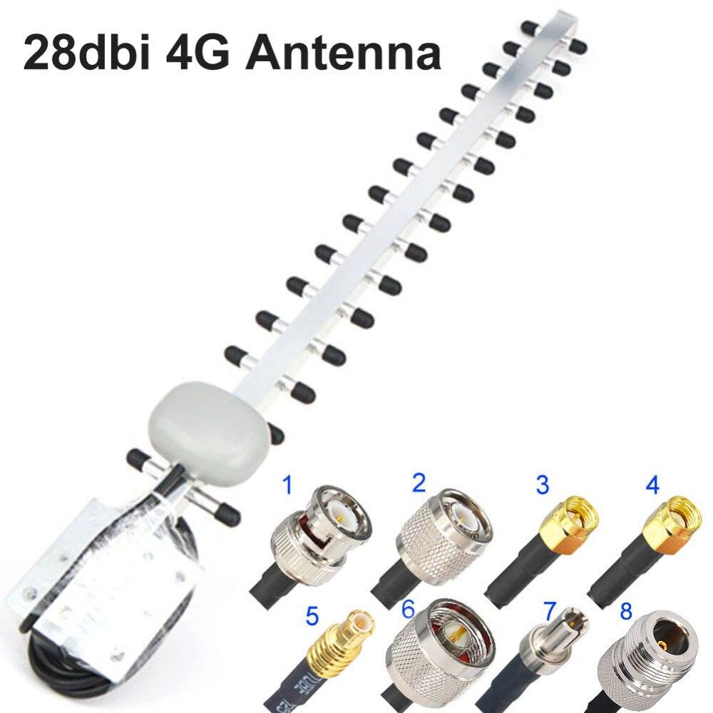 Антенна Yagi 4G, 28dbi 4G LTE SMA Male BNC TNC RP SMA Male открытый направленный усилитель-модем RG58 1,5 м