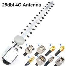 هوائي Yagi من الجيل الرابع هوائي 28dbi 4G LTE SMA ذكر BNC TNC RP SMA ذكر في الهواء الطلق الاتجاه الداعم مكبر للصوت مودم RG58 1.5 متر