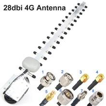 Антенна Yagi 4G, 28dbi 4G LTE SMA Male BNC TNC RP SMA Male открытый направленный усилитель модем RG58 1,5 м