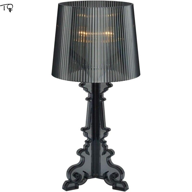 이탈리아 디자인 Kartell Bourgie 아크릴 LED 조명 테이블 현대 간단한 실내 조명 아트 장식 홈 거실 침실 스튜디오 바
