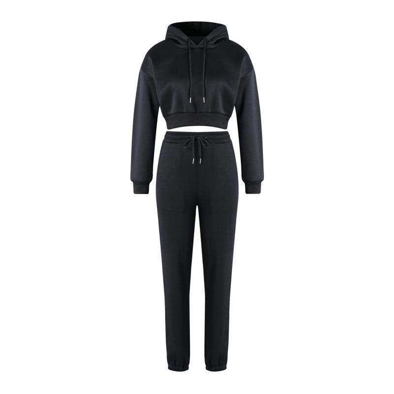 Fashion Women Tracksuit Outfits Long Sleeve Hoodies Sweatshirt And Sweatpants Casual Sports 2 Piece Set Lady Running Sweatsuits 5