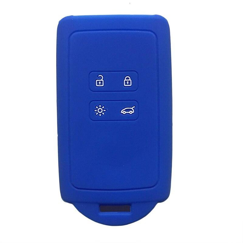 For Renault KOLEOS Kadjar Arkana 2017 For Samsung QM5 4 Button Rubber Car Key Case Cover Card Smart Key Shell Set