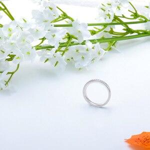 Image 4 - DovEggs özelleştirmek 18K beyaz altın 5ct 9*11mm GH renk yastık nişan yüzüğü kadınlar için düğün hediyesi ışık halkası