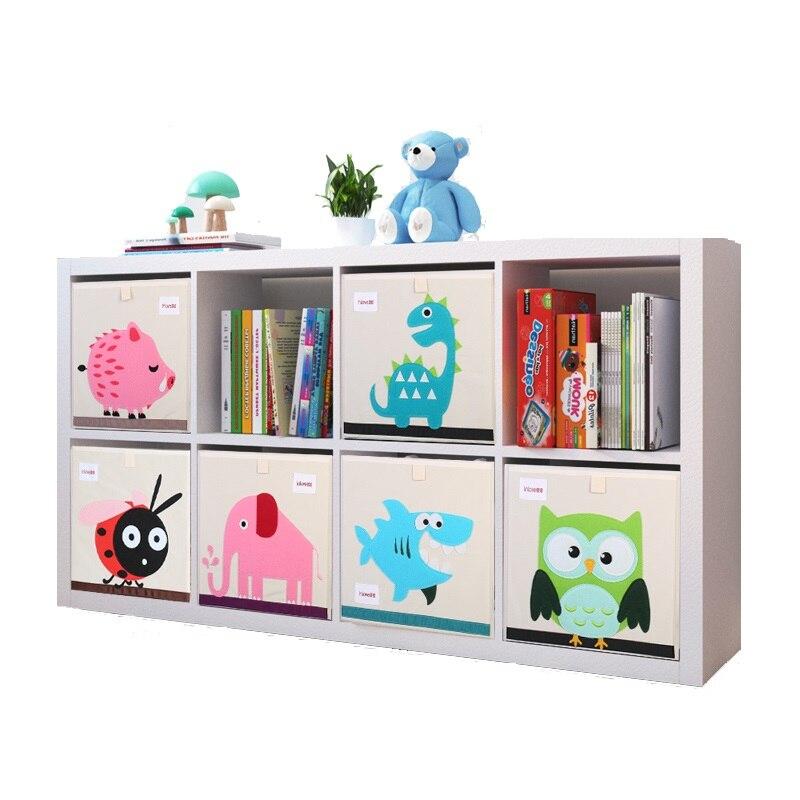 New Oxford Cloth Animal Embroider Storage Box Children Sundries Storage Basket Toy Storage Cubes Organizer For Kids Toy Chest