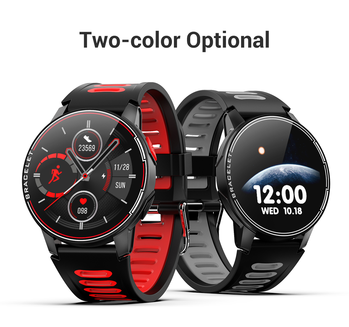 H40561aee82ad490db7cd549b2fefeeddE 2020 New L6 Smart Watch IP68 Waterproof Sport Men Women Bluetooth Smartwatch Fitness Tracker Heart Rate Monitor For Android IOS