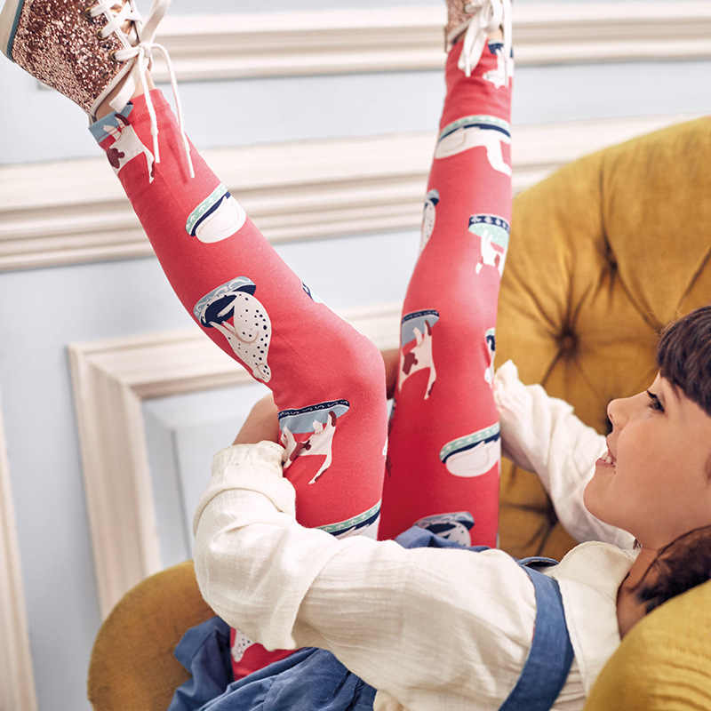 Del bambino Delle Ghette Delle Ragazze Dei Capretti Del Bambino Del Fumetto Del Cane Pantaloni di Stampa Del Fiore Piccolo Della Ragazza Dei Bambini del Cotone di Estate Infantile Pantaloni Pantaloni Lunghi