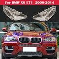 Neue Lampe Fall Für BMW X6 E71 2008-2014 xDrive 35i 40i 50i Auto Front Glas Objektiv Caps Scheinwerfer abdeckung Auto Licht Lampenschirm Shell