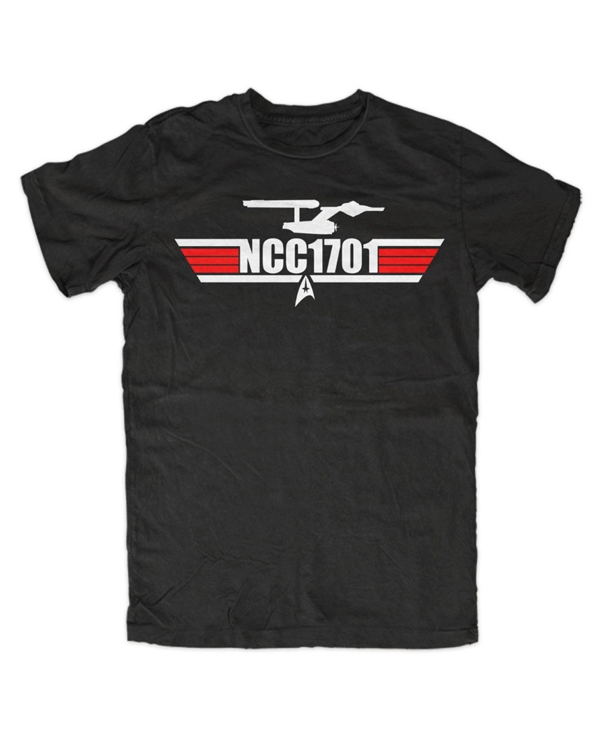 Summer Style Fashion NCC 1701 Casual TShirt Star Kult Fun  Spock Movie Tv Kirk Picard Uhura Crusher Funny Tee Shirt