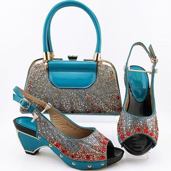 Włoski projekt panie stylowe buty i materiał torby z buty nigeryjskie i zestaw toreb na imprezę kobiet buty i torby do dopasowania tanie i dobre opinie QSGFC Pantofle W dziwnym stylu CN (pochodzenie) Super Wysokiej (8cm-up) Pasuje na mniejsze stopy niezwykle Proszę sprawdzić informacje o rozmiarach ze sklepu