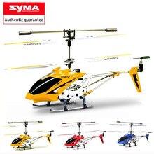Original syma s107g três-canal de controle remoto helicóptero anti-colisão anti-queda equipamentos giroscópio liga aeronaves