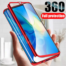 360 degree luxury matte phone case for Huawei honor 8x 10 9 lite 7a 20 pro Protective case for honor v10 p smart 2018 Full Cover(China)