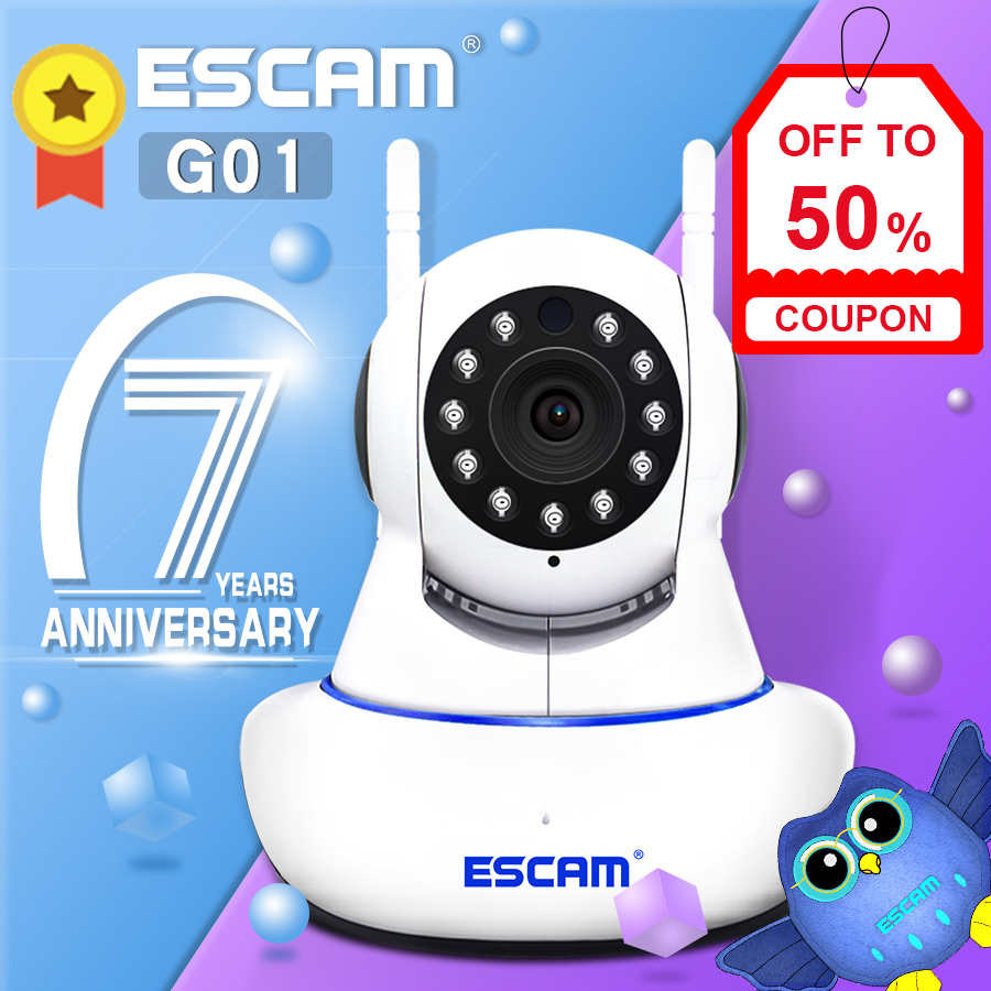 Escam 1080P WIFI Children Accompany Robot Surveillance Night Vision Dual Antenna 2.0 MP IP Camera Support ONVIF P2P Two Way Talk