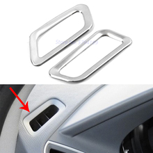 For Volvo XC60 2014 2015 Front Dashboard Air Conditioning Vent Outlet Trim Frame Chrome Interior Accessories