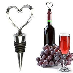 Heart Shaped Red Wine Champagne Wine Bottle Stopper Valentines Wedding Gifts Set Wine Stopper Bar Accessories Home Bars