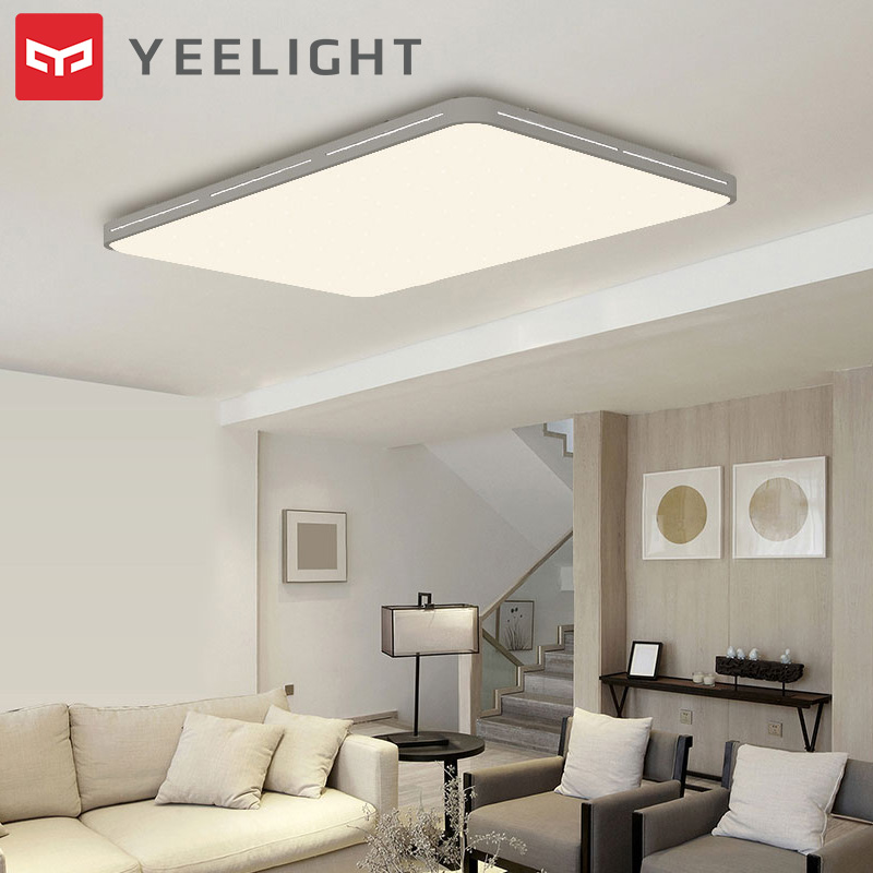 Original Xiaomi Mijia Yeelight YILAI YlXD07Yl 110W Rectangle Style Hollow LED Ceiling Light Pro Adjustable Mi Home App