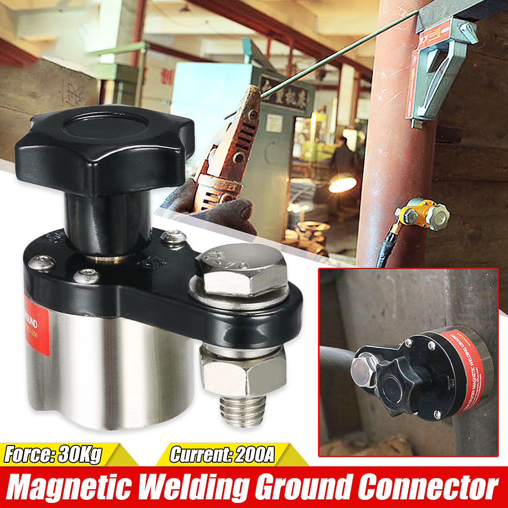 Adjustable 200A Magnetic Welding Ground Clamp Holder Ground Clamp Magnet Connector Soldering Tool Accessories 30Kg Force
