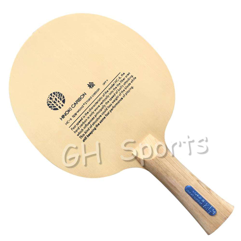 SANWEI HC6S Hinoki Carbon Table Tennis Blade/ Ping Pong Blade/ Table Tennis Bat