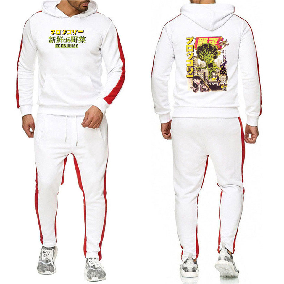 Printed Fleece Hoodies off white Men Sportswear Sets Japan