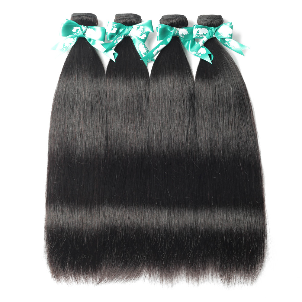 Straight Human Hair Bundles 5pcs 10 Pcs Wholesale Brazilian Human Hair Extensions Bulk Sale 8 Inch -30 Inch Ms Love