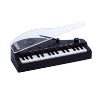 Children Intelligent Sensing Night Vision Lamp Mini Electronic Keyboard Piano Toy With Bluetooth Musical Instruments Toy Black
