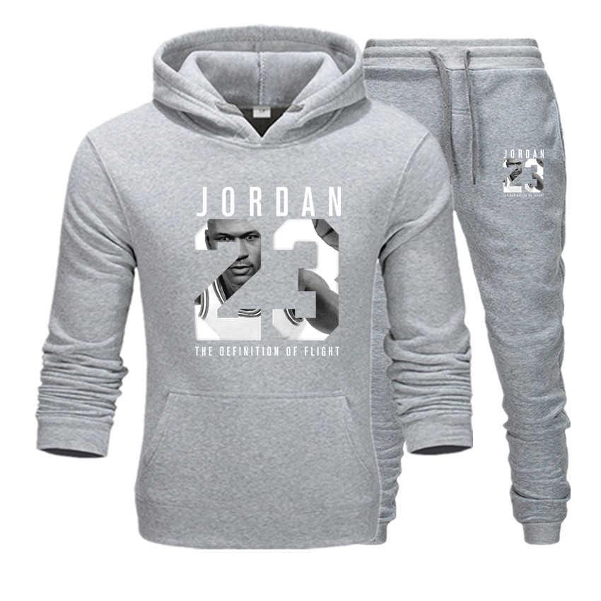 新ファッション suprem 23 パーカースウェットシャツ男性/女性パーカースウェット + スウェットパンツスーツ秋冬暖かいフリースフード付きプルオーバー