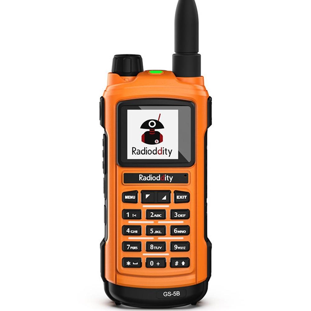 Radioddity GS-5B Analog Dual Band Two Way Radio UHF VHF Bluetooth Programming + Air Acoustic Earpiece + Programming Cable