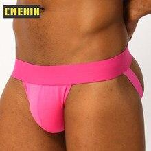 CMENIN – sous-vêtements Sexy pour hommes, Lingerie Jockstrap G String, en pur coton, couleur unie, culotte masculine BP.01