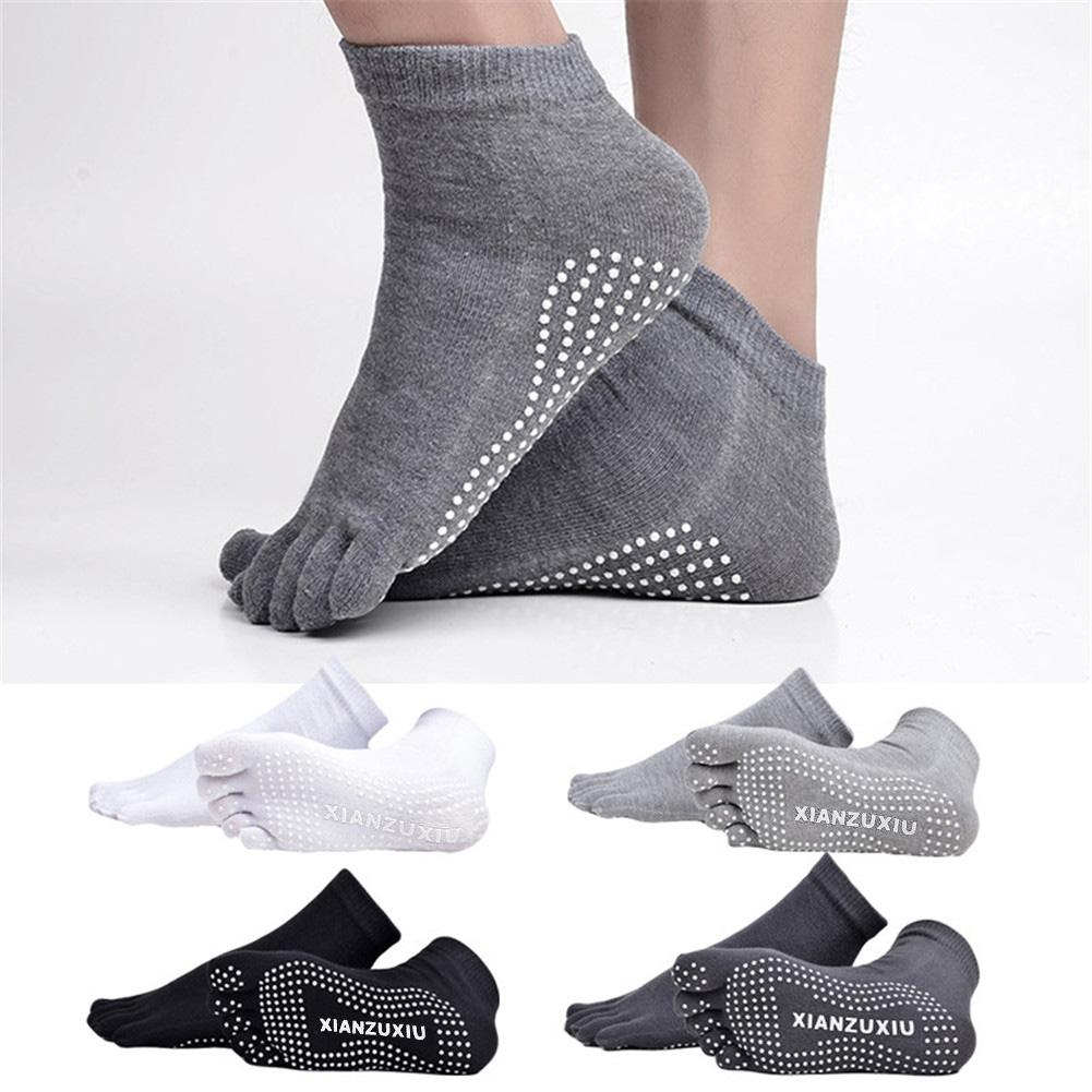 Men Pure Color Five Toe Socks Breathable For Outdoor Sports Yoga Pilates Anti-slip Boy Socks Cycling Skiing Camping Hiking