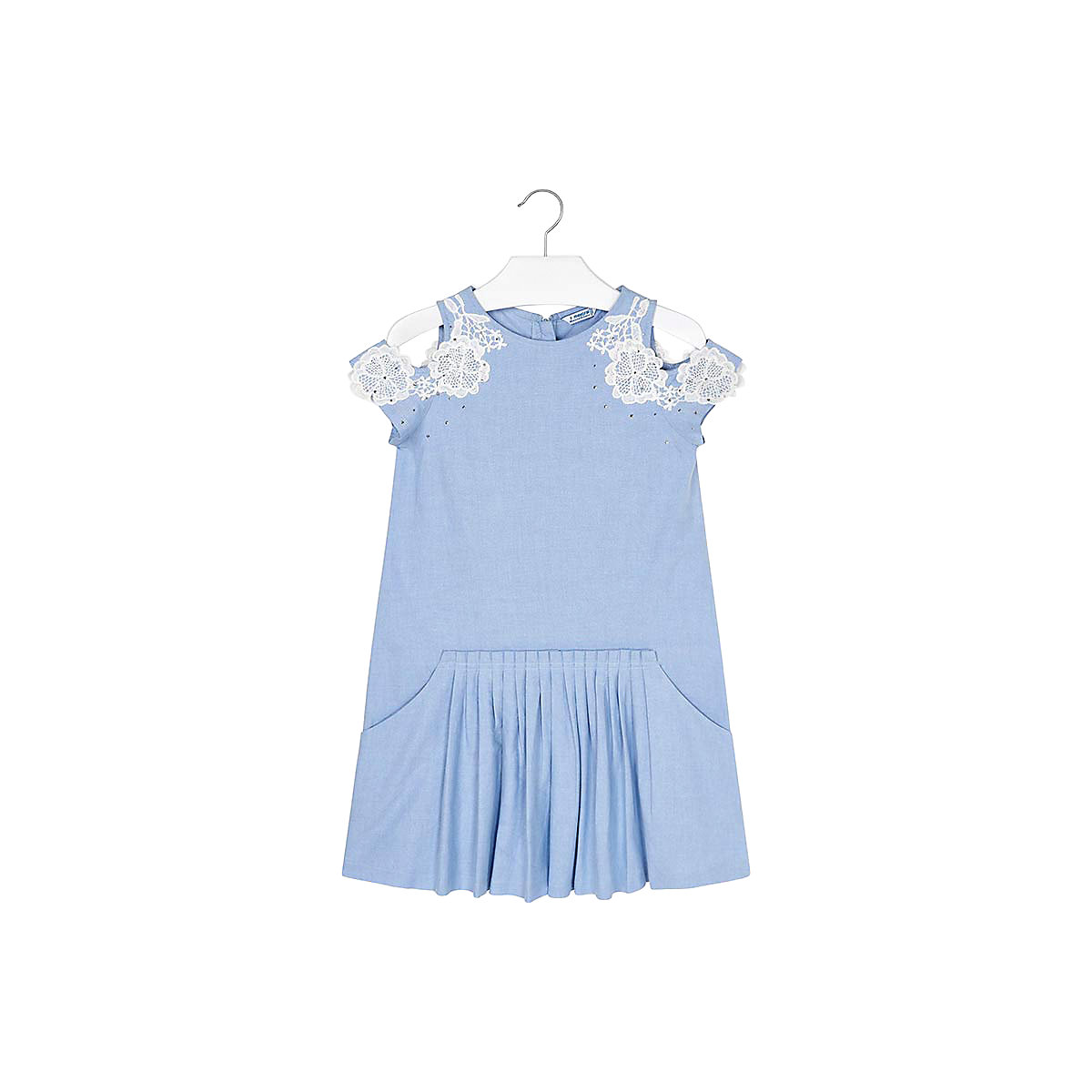 MAYORAL Dresses 10691255 Girl Children fitted pleated skirt Multi Cotton Casual Solid Knee-Length Sleeveless Sleeve