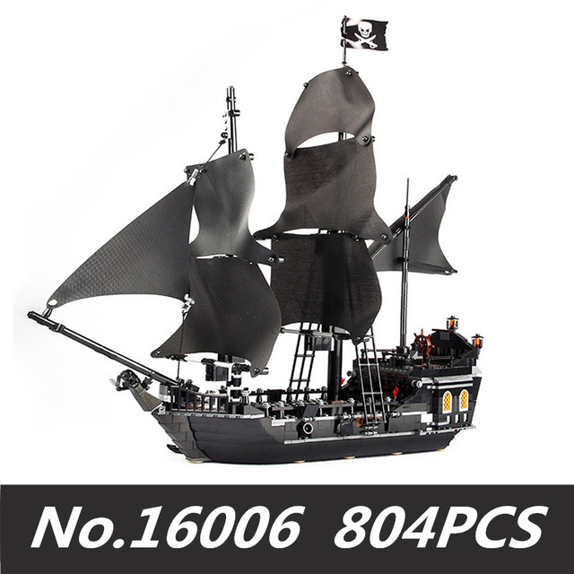 16006 804PCS building bricks blocks Pirates of the Caribbean the Black Pearl Ship compatible with 4184 toys for Children gift | Model Building
