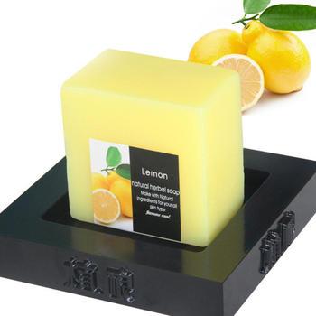 100g Handmade Lemon Soap Cleaner Removal Pores Acne Treatment Moisturizing Whitening Body Shower Tools Body Care 1