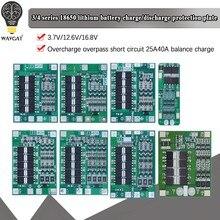Защитная плата зарядного устройства для литий-ионных батарей 3S/4S 20 40A 60A 18650 BMS Drill Motor 11,1 V 12,6 V/14,8 V 16,8 V Enhance/Balance