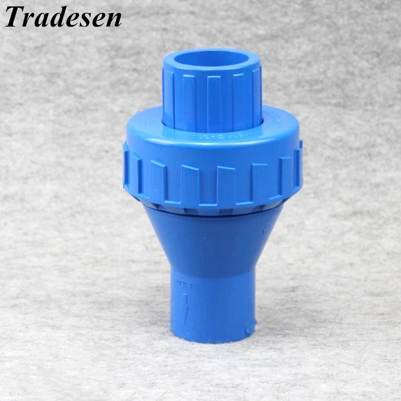 20mm-32mm ID Belt Spring PVC One Way Non Return Check Valve Pipe Fitting Coupler Adapter Water Connector For Garden Irrigation