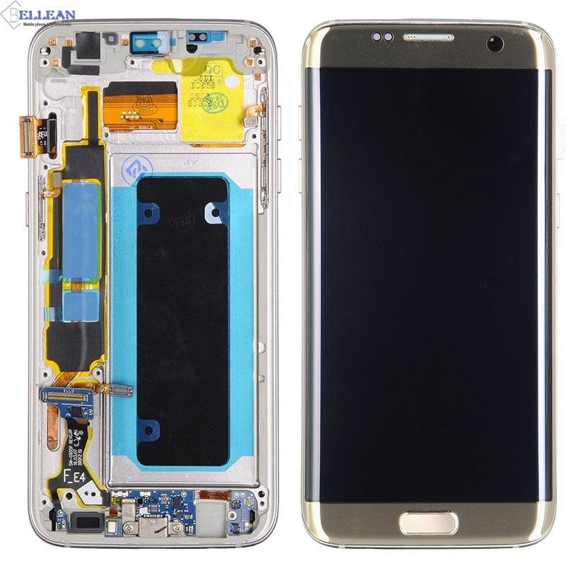 Promotion Catteny pour Samsung Galaxy S7 bord écran affichage tactile numériseur assemblée G935 G935F G935 Lcd avec cadre + outils