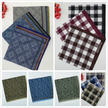 High Quality Handkerchiefs Men Cotton Gauze Soft Sweat-absorbent Mens Handkerchief Old To Eat Napkin Harajuku Gift