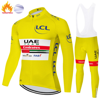 UAE-ropa de ciclismo de manga larga para hombre, jersey de ciclismo para...