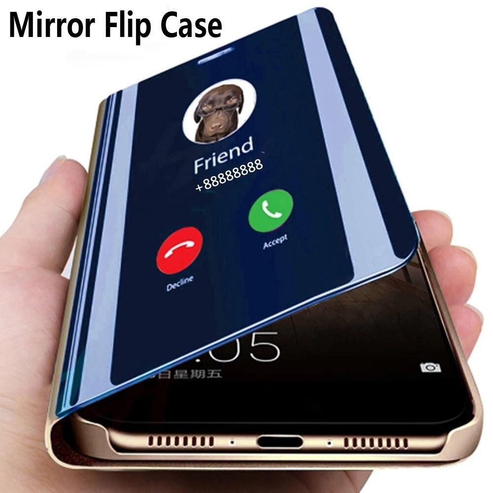 Smart Mirror Flip Case For Samsung Galaxy S20 A51 A71 A81 A91 A50 A70 Note 20 10 9 8 S10 S9 S8 Plus Pro M51 FE A20 A30 A31 Cover