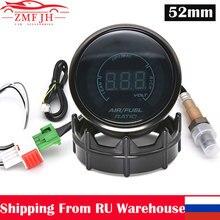 Indicador de relación aire combustible de 52mm para coche, pantalla Digital LED con Sensor de oxígeno de banda estrecha O2 para coche de carreras de 12V, 0258006028