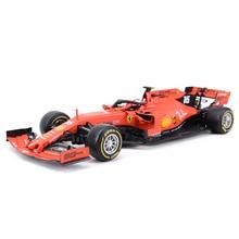 Bburago 1:18 2019 sf90 f1 racing #16 #05 fórmula carro estático morrer fundido veículos collectible modelo carro brinquedos