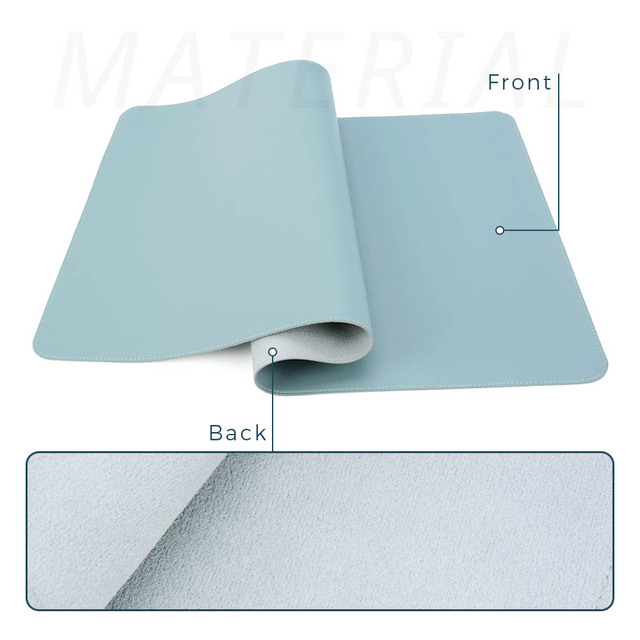 Double-side Portable Large Mouse Pad Gamer Waterproof PU Leather Suede Desk Mat Computer Mousepad Keyboard Table Cover for Dota 3