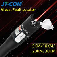 30mW FTTH Fiber Optic Tester Pen Type Red Laser optical fiberLight 10mW Visual Fault Locator Optical Cable Tester 10-30Km Range