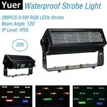Disco Light Music 288LEDS 0.5W RGB LED Strobe DMX 512 Wall Wash Lights Waterproof Stage Effect For Dj KTV